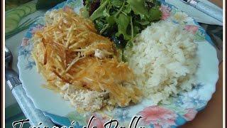 Fricasé de Pollo cremosito receta fácil y rápida