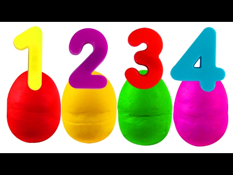 Play Doh Numbers Surprise ABC Songs for Children Kindergarten Kids Learn the Alphabet Toys