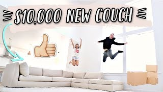 NEW $10,000 COUCH DELIVERY!! MOVING VLOGS!
