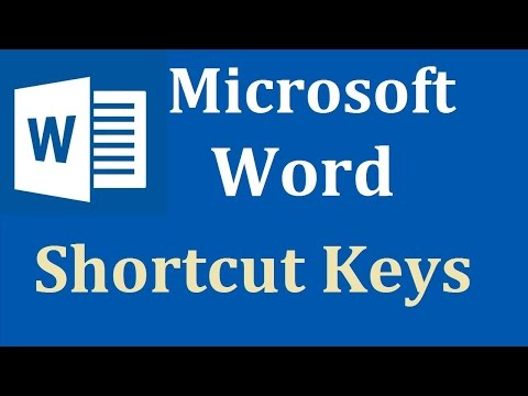 MS Word shortcut keys A TO H In Hindi Part 1 2018