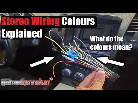 Stereo Wiring Colours Explained (Head Unit wiring)
