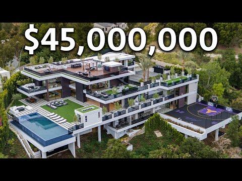 Inside a 45 000 000 Los Angeles Modern MEGA MANSION