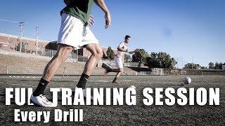 Two Pro Footballer's Full Training Session   Life of Pro 31