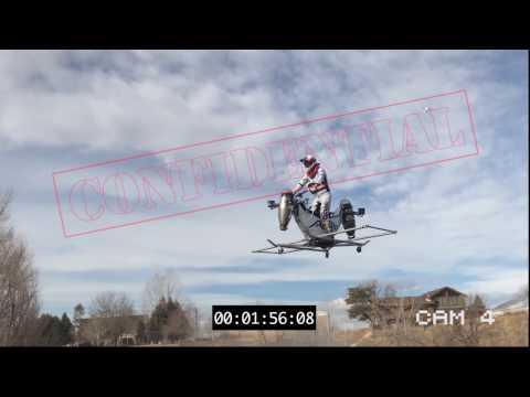 SNEAK PEEK World s First Jet Engine Powered Flying Motorcycle