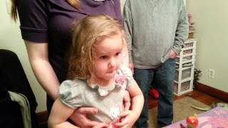 Crying toddler ruins birthday party