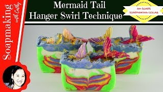 Mermaid Tail Hanger Swirl Soap Making DIY beginners easy how to make soap   Soap Making Collab 092