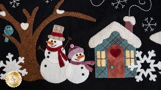 Snowman Lane Table Runner - in Wool | Shabby Fabrics Exclusive Project