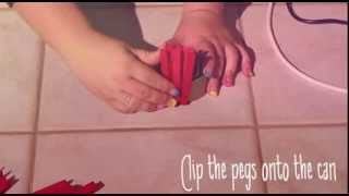 How to make a pot plant out of pegs