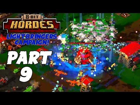 8-Bit Hordes Walkthrough: Part 9 - 3 Star Lightbringers Ending! - PC Gameplay Playthrough 60fps