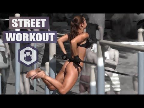 Street Workout in Ukraine amazing female motivation.