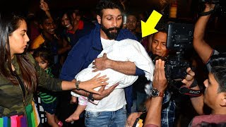 Shahid Kapoor Protecting Baby Misha From Crazy Media At Airport