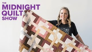 Interlocking Puzzle Quilt SEASON 4 PREMIERE | Midnight Quilt Show with Angela Walters