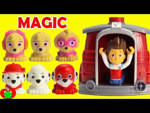 Paw Patrol Super Pups Saves Ryder Using Marshall s Magical Pup House LOL Doll Surprises