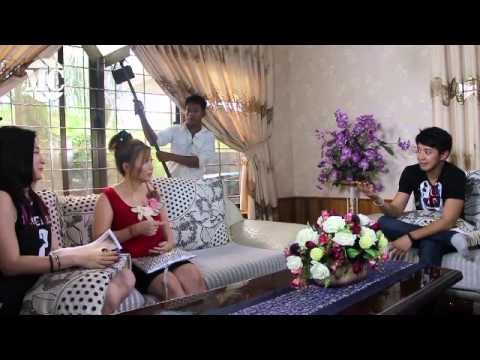 Sai Sai & Wutt Hmone Together at Sezar Thit Pin Movie Making