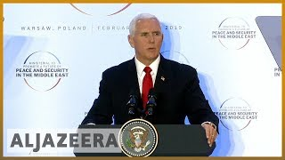 🇺🇸 🇮🇷 Middle East conference: Pence urges EU to quit Iran nuclear deal l Al Jazeera English