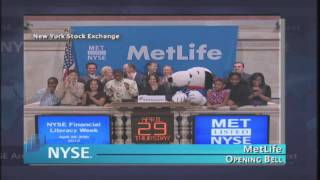 29 April 2010 MetLife visits the NYSE and celebrates Financial Literacy