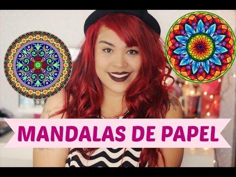 DIY Mandalas de papel Nivel Fácil