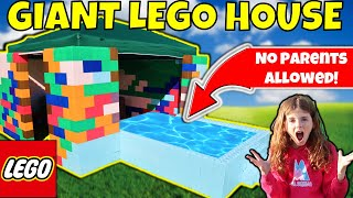 KIDS ONLY GIANT LEGO FORT WITH POOL! NO PARENTS ALLOWED!