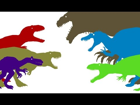 Dinosaurs Cartoons. Dinosaurs Battles Compilation part