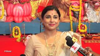Vidya Balan Visit Bengali Actor Biswajit Durga Puja Pandal | Latest Bollywood News 2015