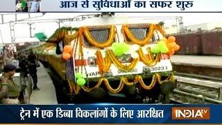 PM Narendra Modi Flags Off Mahamana Express Train in Varanasi