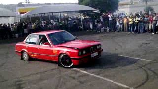 car spinning bmw