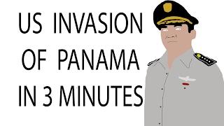 US Invasion of Panama| 3 Minute History