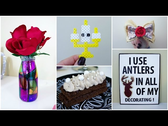 DIY BEAUTY AND THE BEAST CRAFTS | PINTEREST INSPIRED