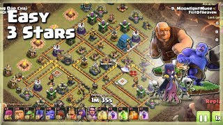 Th12 Easy 3 Stars Army= GiBoWi | TH12 War Strategy #85 | COC 2018 |