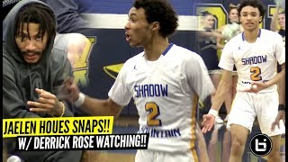 Jaelen House SNAPS Vs Heckling Crowd w/ Derrick Rose Watching! Shadow Mountain TOO OP!!