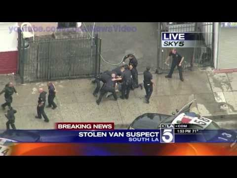Wild Police Chase South Los Angeles CA April 30 2013