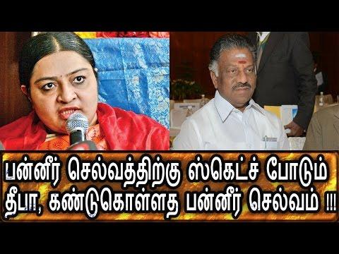 பன்னீர் செல்வத்தை குறிவைக்கும் தீபா பன்னீர் செல்வத்தின் முடிவு என்ன Political News Latest News