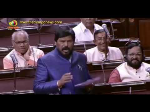 Ramdas Athawale Again Trolls Congress In Funny Way | Rajya Sabha | Mango News