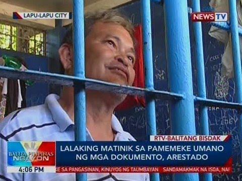 Xxx Mp4 BP Lalaking Matinik Sa Pamemeke Umano Ng Mga Dokumento Arestado Sa Lapu Lapu City 3gp Sex