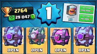 LEVEL 1 PLAYER ALL CHEST OPENING! | Clash Royale | LEGENDARY & SUPER MAGICAL CHEST OPENING!
