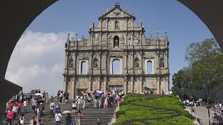 Historic Center of Macau, China in 4K (Ultra HD)