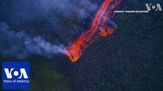 Lava Fountaining 100 Meters High From Hawaii