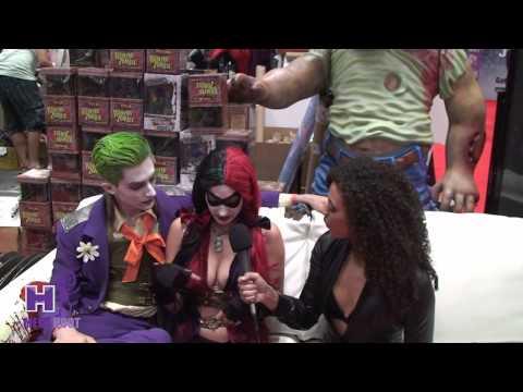 MegaHootTV - Kylie Fox New York Comic Con 2013 - The Joker and Harley Quinn