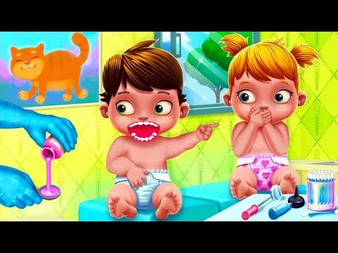 Fun Care Kids Game Baby Twins Babysitter Play Dress Up Care & Bath Time Games For Kids