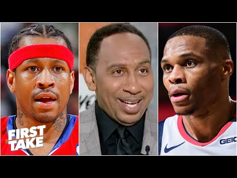 Will Russell Westbrook finish with a better career than Allen Iverson First Take debates