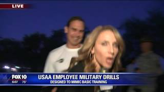USAA employees get early wake-up call for military drills