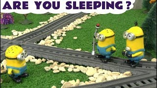 Learn Colors with Bad Minions Banana Prank Tape Are You Sleeping Nursery Rhymes Thomas Train TT4U