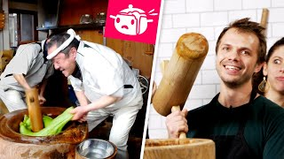 We Tried To Make Mochi With Giant Hammers • Eating Your Feed • Tasty