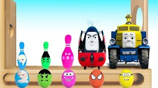 Learn Colors with Thomas and Friends EGGS SURPRISE! WOODEN FACE Hammer Xylophone Toys Train for Kids
