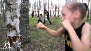 Boxing, young russian girl showing great technique(PART 1)
