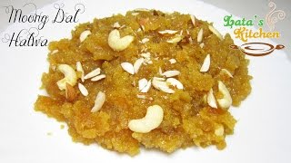 Moong Dal Halwa Recipe Video — Indian Dessert Recipe in Hindi by Lata Jain