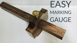 I Make a Beautiful $100* Walnut Marking Gauge | Hand Tool Build Off 2017