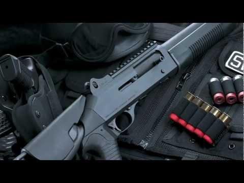 Benelli M4 Tactical Semi Automatic Shotgun for Law Enforcement Factory Video