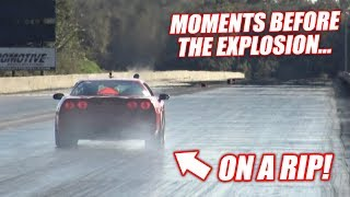 The Auction Corvette Goes DRAG RACING! (Ends Horribly, Engine EXPLOSION!)