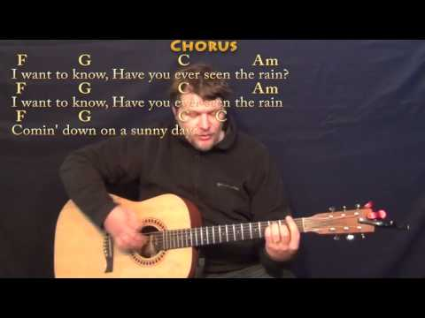 Have You Ever Seen the Rain (CCR) Strum Guitar Cover Lesson with ChordsLyrics